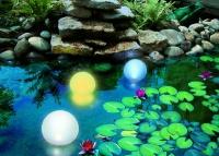 Dekorative Solarleuchten für Garten und Teich
