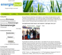 Energie2null.de Portal für neue und alternative En