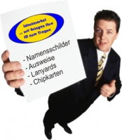 Namensschilder, Chipkarten bedrucken
